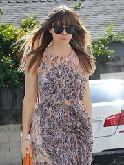 Jessica Biel kept the rays out with a pair of black wayfarers while out in West Hollywood.