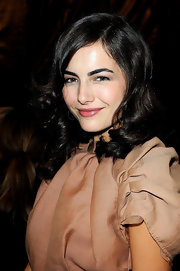 Camilla Belle went ultra girly with this curly 'do for the Louis Vuitton fashion show.