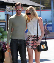 Kate Bosworth complemented her casual strolling outfit with a luxuriously elegant Tom Ford Natalia shoulder bag.