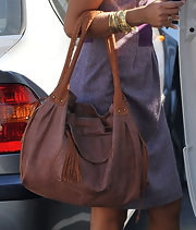 Camila Alves teamed a gold quartz watch with multiple bangles for a day out in Brentwood.