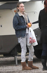 Kate Bosworth looked a little grungy in her faded gray jeans.