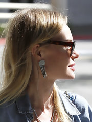 Kate Bosworth was spotted out in Beverly Hills rocking a pair of industrial-looking sterling chandelier earrings.