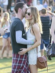 Kate Bosworth was spotted at Coachella carrying a cute brown satchel.