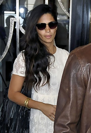 Camila Alves headed out in London wearing a pair of dark glasses.