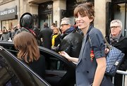 Lou Doillon was spotted at the Jean Paul Gaultier fashion show carrying a classic quilted leather bag.