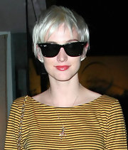 Ashlee Simpson rocked an edgy razor cut while out in West Hollywood.