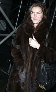 Hilary Rhoda was spotted at a Lady Gaga concert rocking a black Alexander Wang Rocco stud-bottom bag.