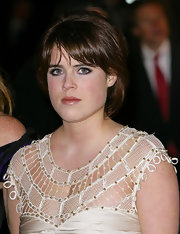 Princess Eugenie wore her hair in a bob at the premiere of 'The Young Victoria.'