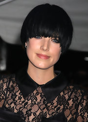 Agyness Deyn looked quirky with her bowl cut at the New York screening of 'The Twilight Saga: New Moon.'