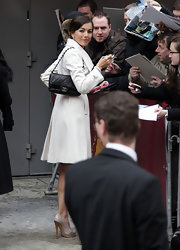 Camilla Belle showed off a classic Chanel quilted bag while signing autographs at the Berlin International Film Festival.