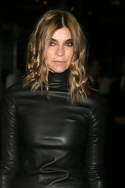 Carine Roitfeld sported edgy-chic waves during the Prada book launch.
