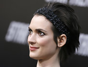 Winona Ryder sported a punky razor cut at the LA premiere of 'Star Trek.'