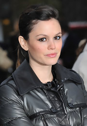 Rachel Bilson attended the Burberry Prorsum fashion show wearing her hair in an edgy ponytail.