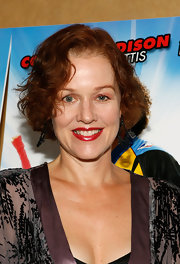 Penelope Ann Miller attended the premiere of 'Free Style' wearing a curled-out bob.