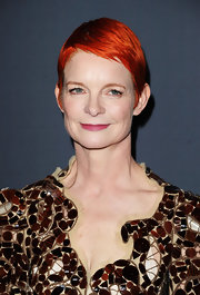 Sandy Powell showed off a stylish red-dyed pixie at the 2012 Costume Designers Guild Awards.