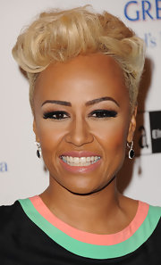 Emeli Sande sported a cool fauxhawk at the Grey Goose Winter Ball.