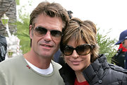 Lisa Rinna attended this Malibu party in a pair of over-sized shades.