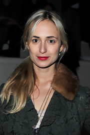 Elisabeth von Thurn und Taxis opted for a casual ponytail when she attended the Valentino Fall 2012 show.