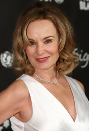 Jessica Lange styled her hair into a curled-out bob for the 'Montblanc Signature for Good' charity initiative.
