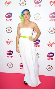 Bethanie Mattek-Sands went minimal in a strapless white gown at the pre-Wimbledon party.