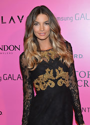Lily Aldridge looked to-die-for with her gorgeous wavy 'do during the Victoria's Secret fashion show after-party.