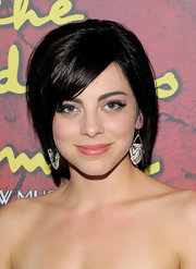 Krysta Rodriguez attended the Broadway opening of 'The Addams Family' wearing a short scene cut.