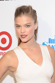 Nina Agdal topped off her look with a disheveled ponytail for the SI Swimsuit kickoff event.