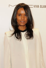 Liya Kebede styled her hair with feathered layers for the amfAR New York Gala.