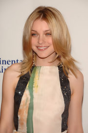 Jessica Stam attended the Angel Ball wearing her hair in flippy, face-framing layers.