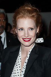 Jessica Chastain wore a classic and elegant loose bun to the Saint Laurent fashion show.