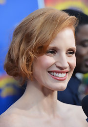Jessica Chastain attended the 'Madagascar 3' premiere wearing a very loose bun that looked almost like a bob.