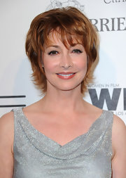Sharon Lawrence wore a messy-chic razor cut at the 2010 Women in Film pre-Oscar party.