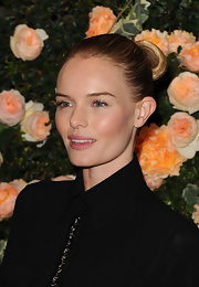 Kate Bosworth slicked her locks back into a tight bun for the Chanel dinner.
