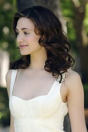 Emmy Rossum looked fab with her bouncy curls during the 'Poseidon' photocall in Rome.
