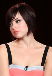 Krysta Rodriguez went trendy with this short scene cut at the 2013 Winter TCA Tour.