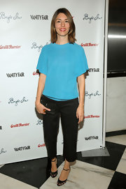 Sofia Coppola chose a chic pair of Christian Louboutin cutout pumps to complete her look.