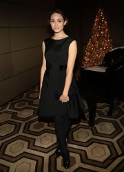 Emmy Rossum chose a classic little black dress for the screening of 'The Reader.'