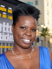 Leslie Jones went super edgy with this fauxhawk at the premiere of 'Lottery Ticket.'