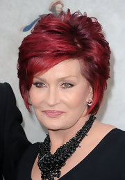 Sharon Osbourne looked fab with her brightly hued razor cut at Spike TV's Guys Choice 2010.