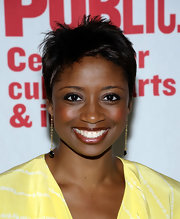 Montego Glover sported a cool boy cut at the 2013 Public Theater Gala.