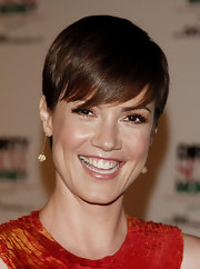 Zoe McLellan looked cute with her emo bangs at the 'Dirty Sexy Money: The Complete 1st Season' launch party.