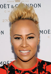Emeli Sande looked tres cool with her towering fauxhawk at the Moet & Chandon 270th anniversary event.