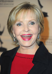 Florence Henderson attended the Academy of Television Arts & Sciences' Hall of Fame Induction Gala wearing a short cut with wispy bangs.