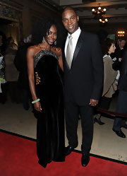 Keisha Omilana oozed elegance wearing this black velvet halter gown at the Alvin Ailey opening night gala.