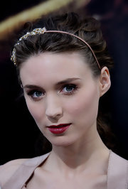 Rooney Mara wore a romantic 'do, complete with a bejeweled headband, at the premiere of 'A Nightmare on Elm Street.'