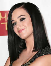 Katy Perry wore her hair in a sleek shoulder-length style at the unveiling of her wax figure at Madame Tussauds' Las Vegas.