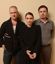 Rooney Mara posed for a portrait wearing a simple black crewneck sweater at the 2013 Sundance Film Festival.