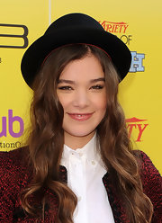 Hailee Steinfeld jazzed up her look with a black porkpie hat for the 2011 Variety Power of Youth event.