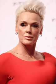 Brigitte Nielsen looked edgy with her towering fauxhawk at the premiere of 'The Key.'
