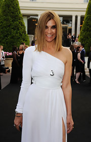 Carine Roitfeld complemented her fab dress with a simple sterling pendant necklace when she attended the amfAR Gala.